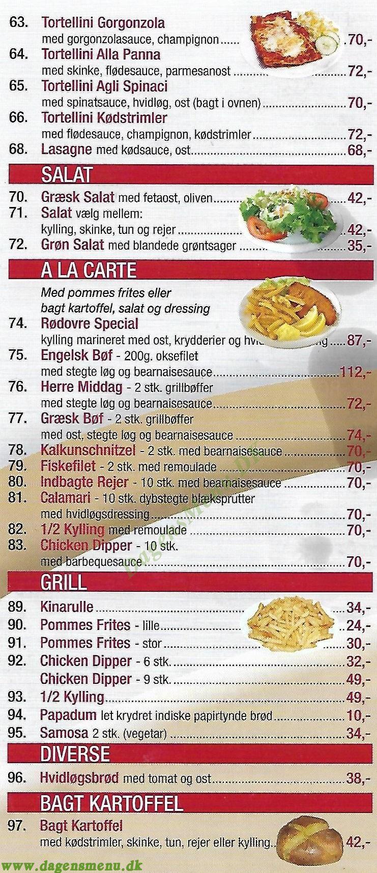 LUCERNE PIZZA & INDISK MAD - Menukort