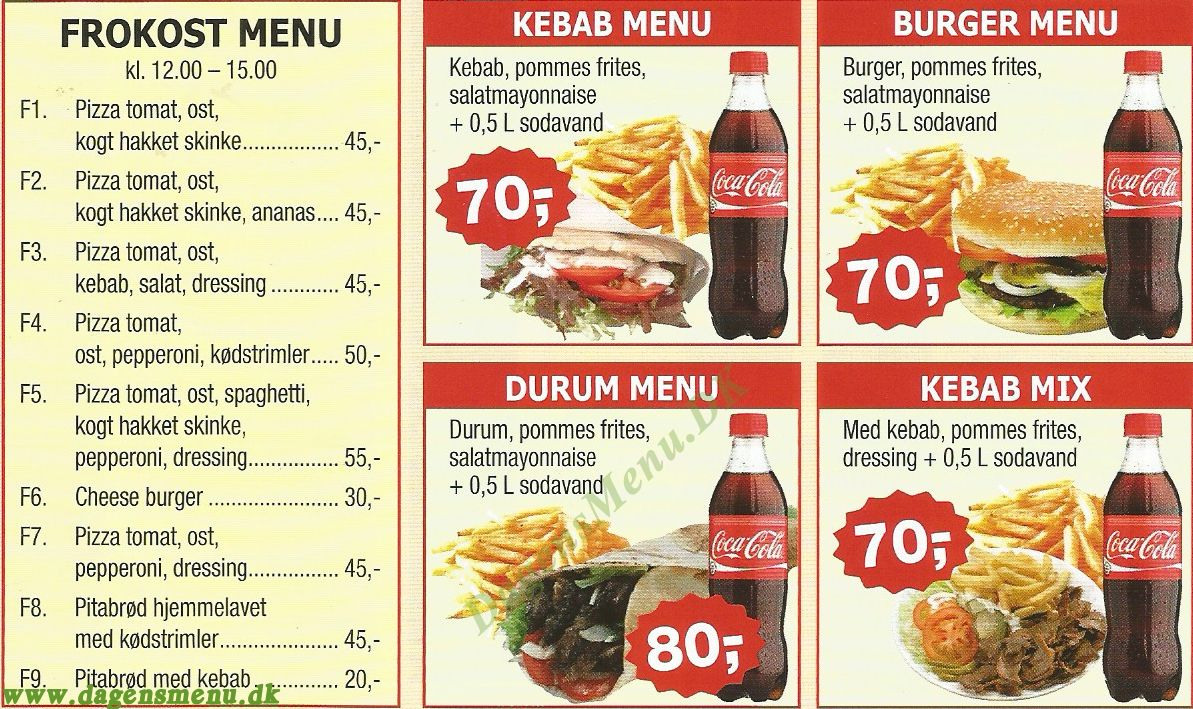 Efes pizza kebab stenlille dagens menu for Divan kebab carte