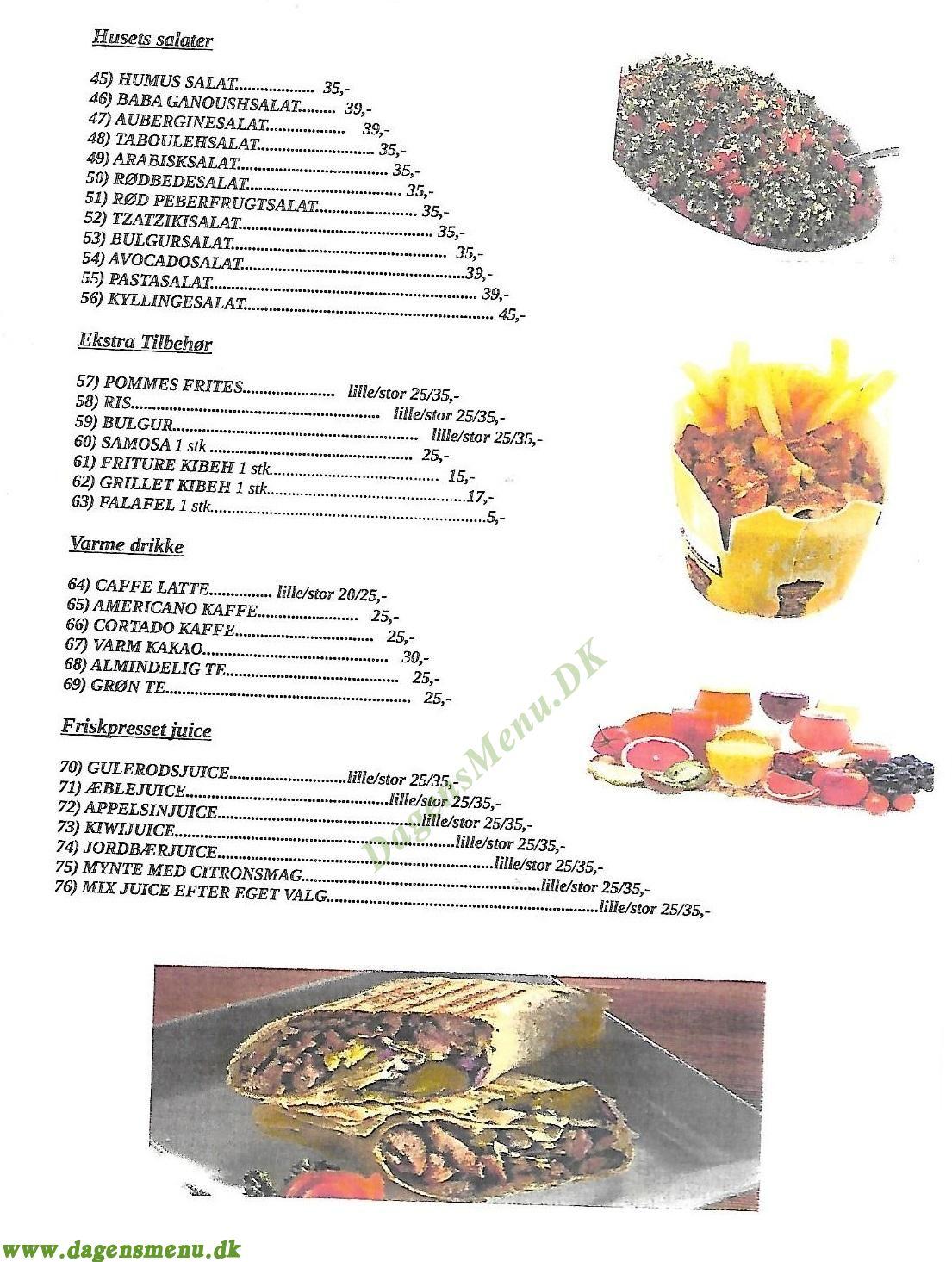 Orienten Grill - Menukort