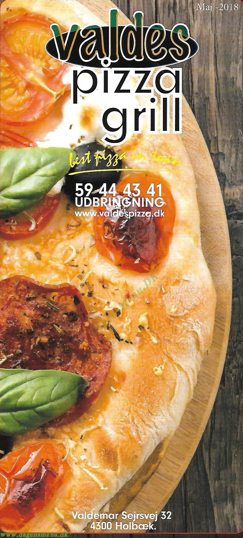 Valdes Pizza og grill - Menukort
