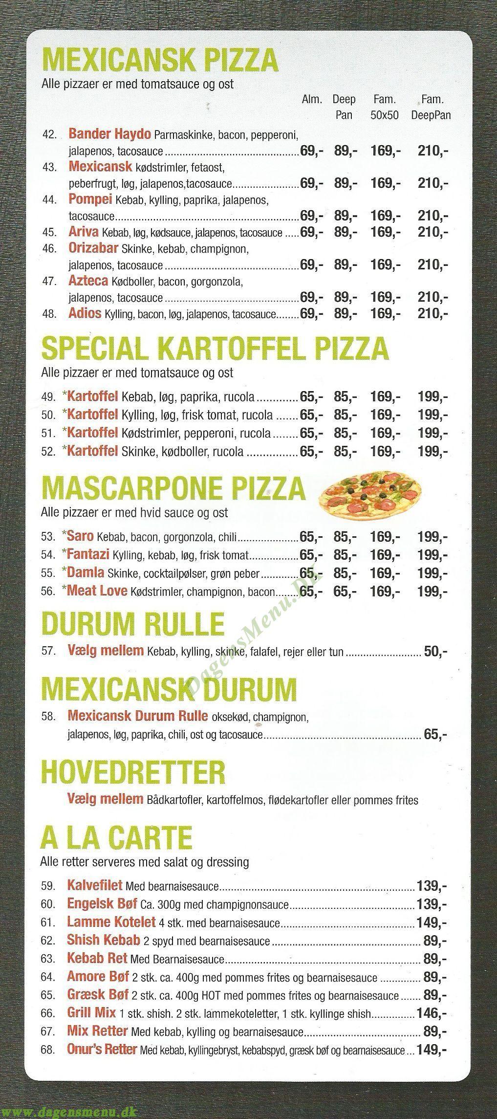 uptown silkeborg menukort