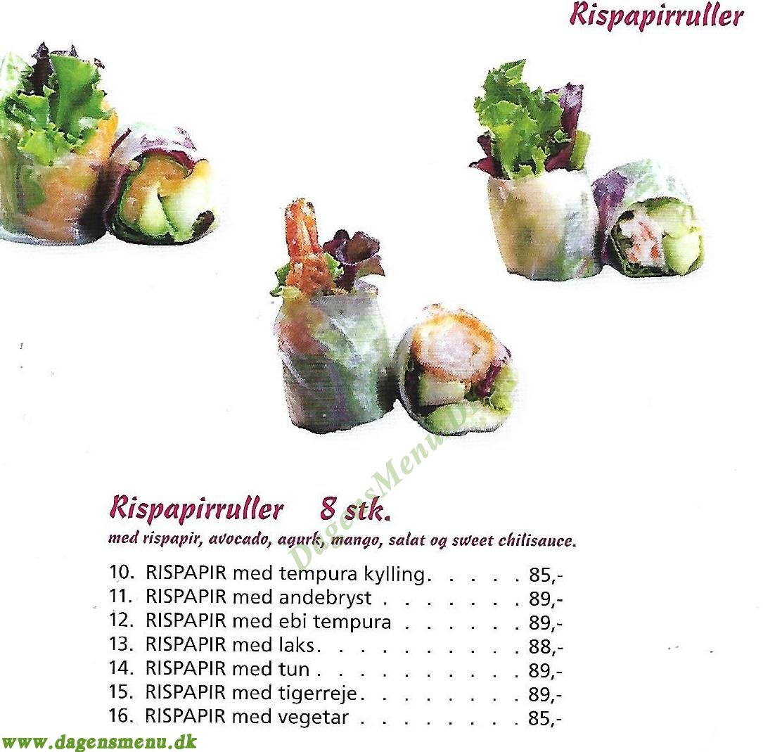Xing Sushi - Menukort