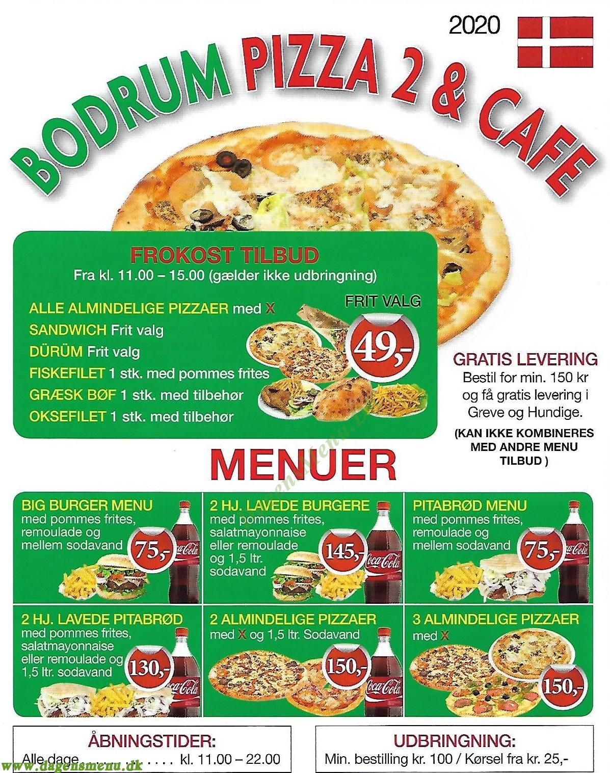 Bodrum Pizza Bar 2 - Menukort