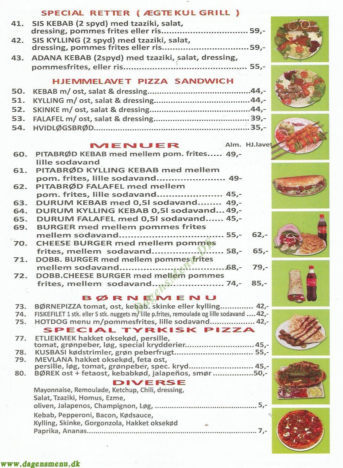 Roskilde Kebab & Grillhouse - Menukort