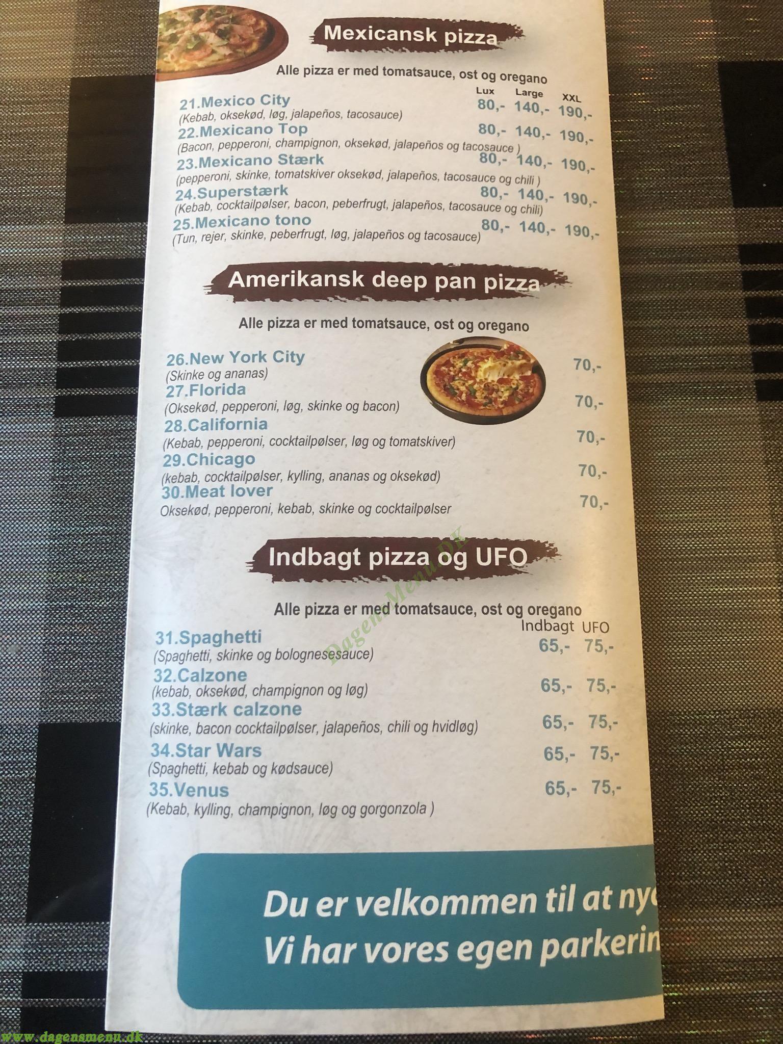 Hesselager Pizzaria & Grill - Menukort