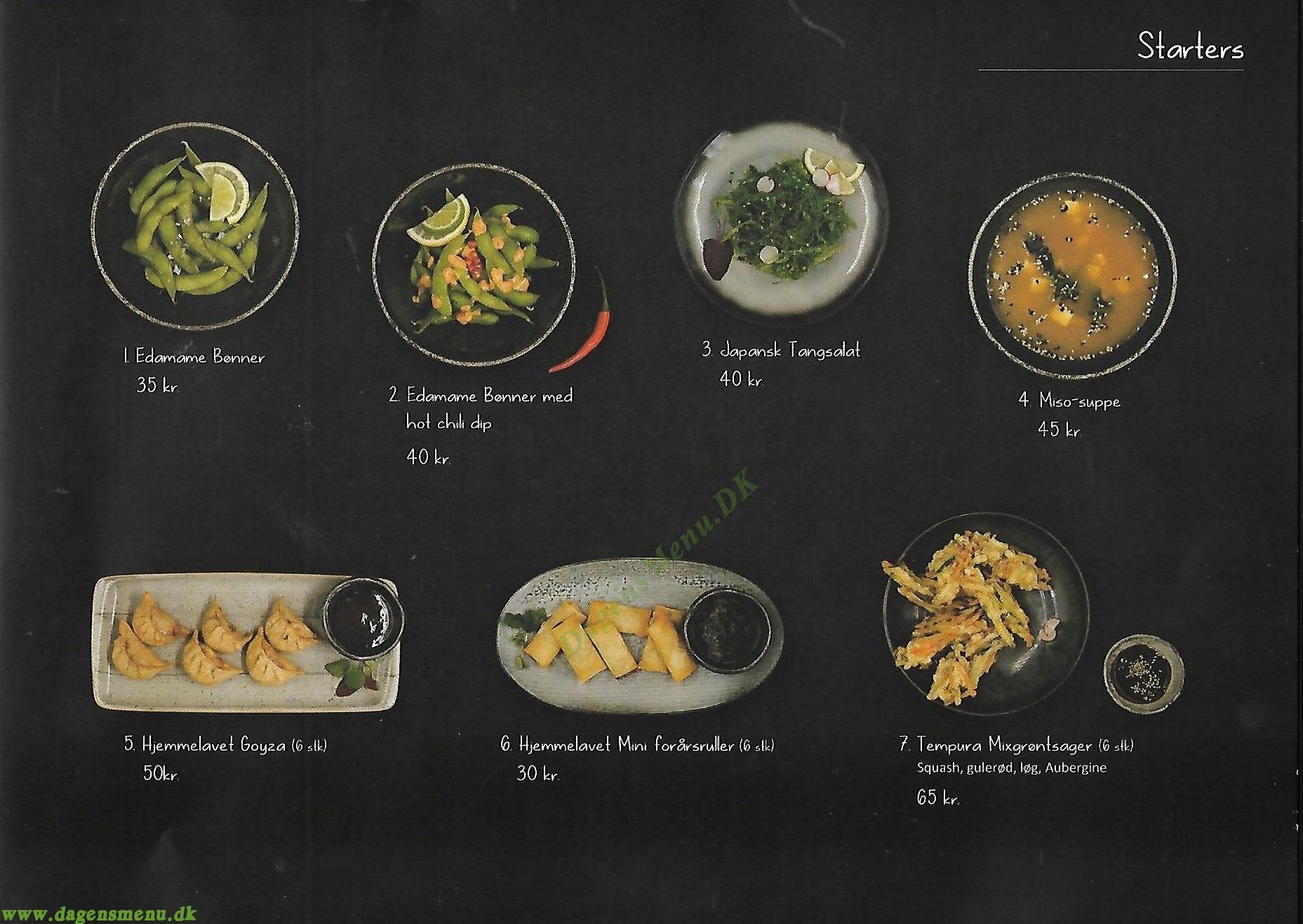Kasai Sushi Restaurant - Menukort