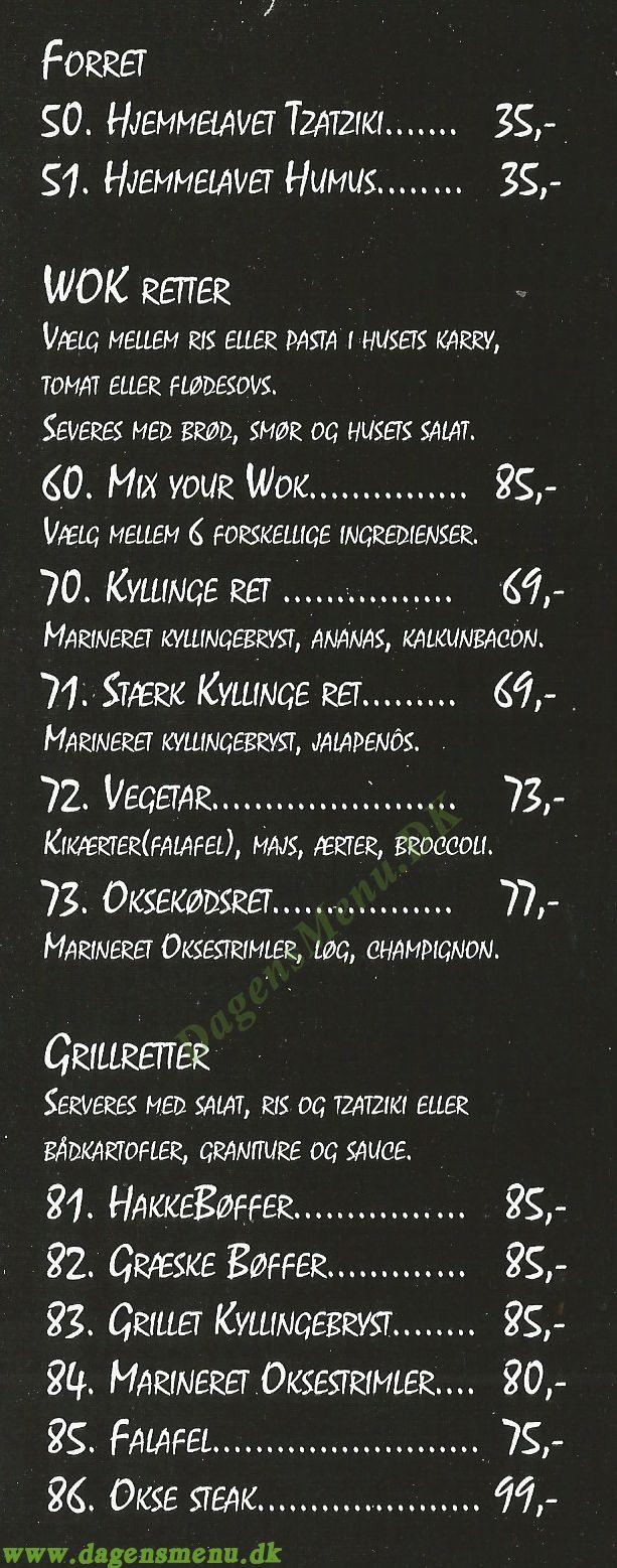 O´cak good food & drinks - Menukort