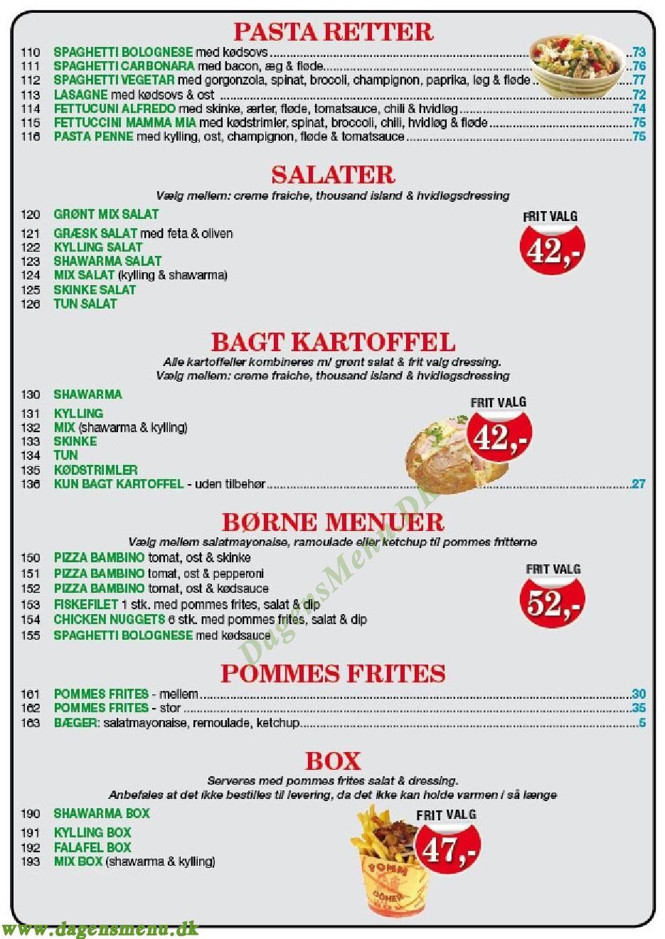 Bodrum Pizzaria - Menukort
