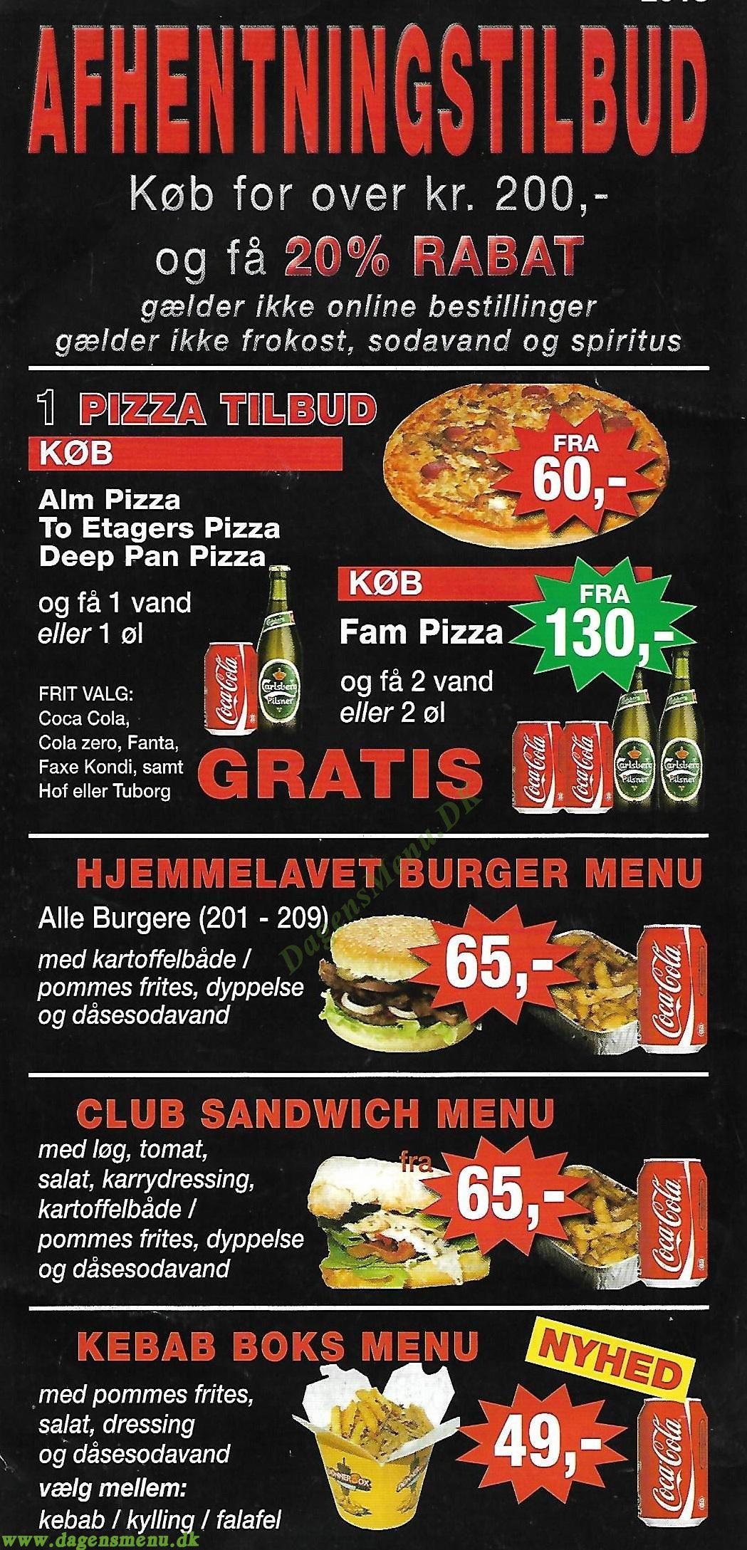Pizza Xpressen - Menukort