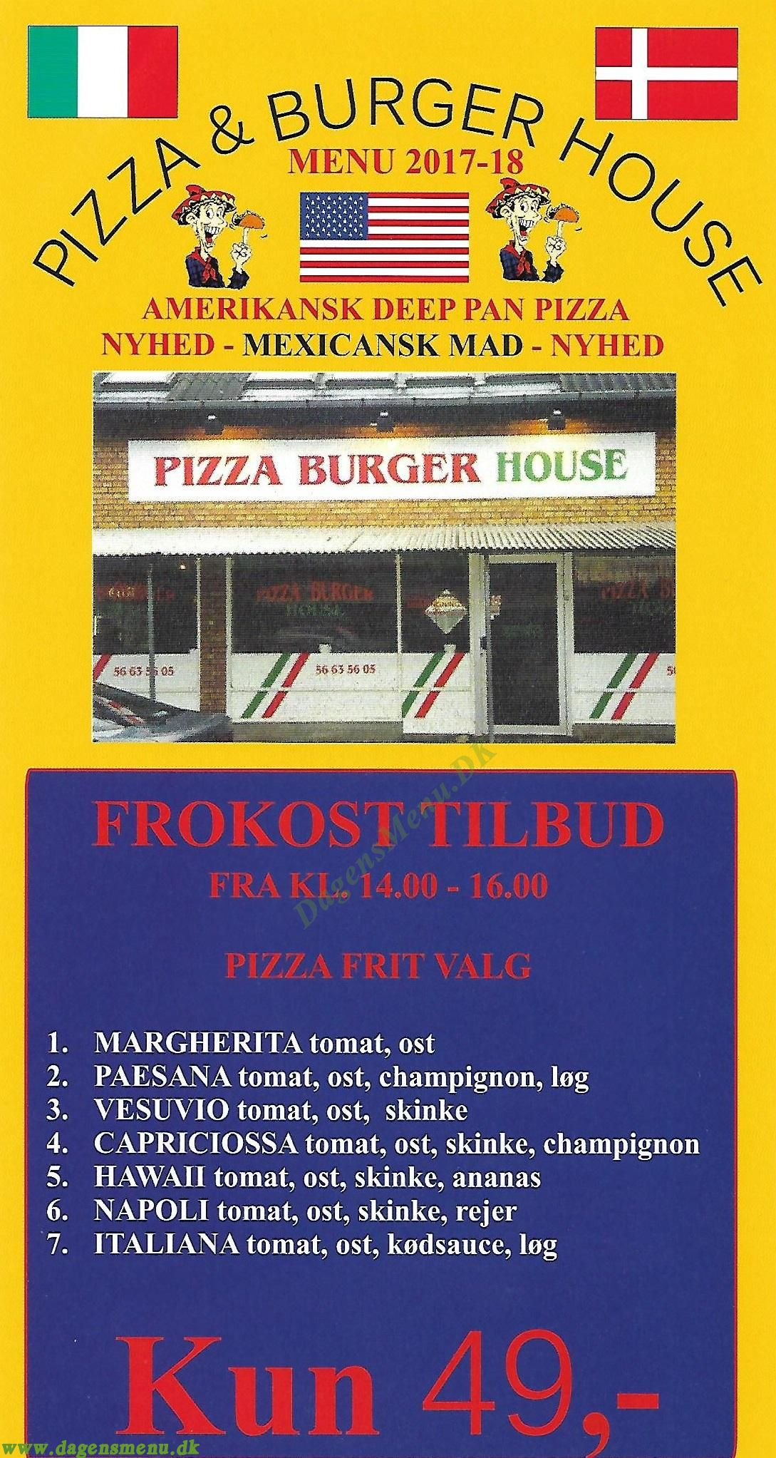 Pizza & Burger House - Menukort