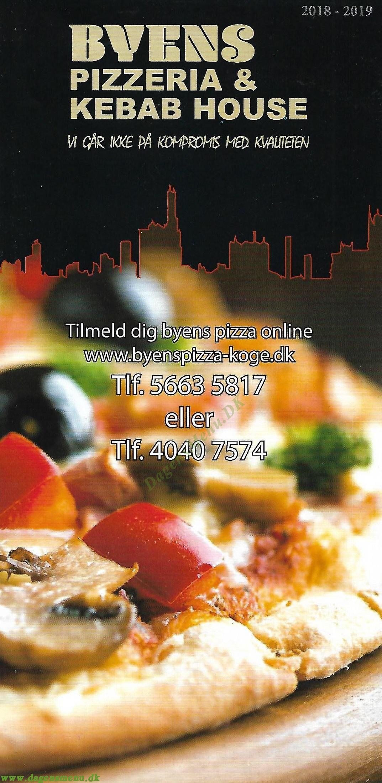 Byens Pizza - Menukort