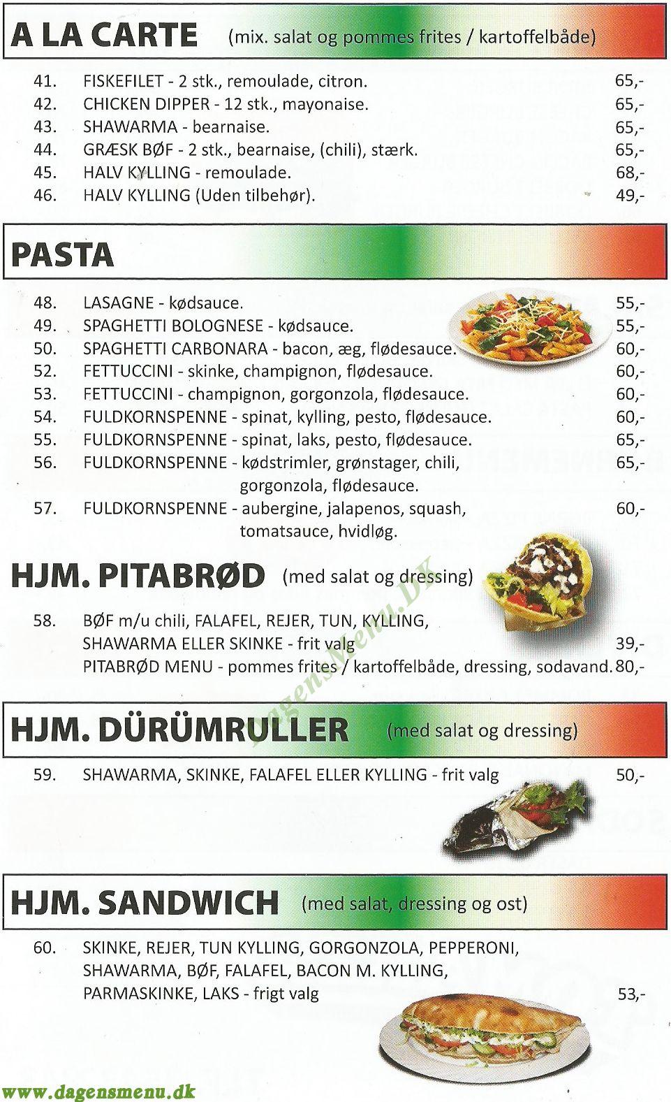 Tomarza Pizza - Menukort