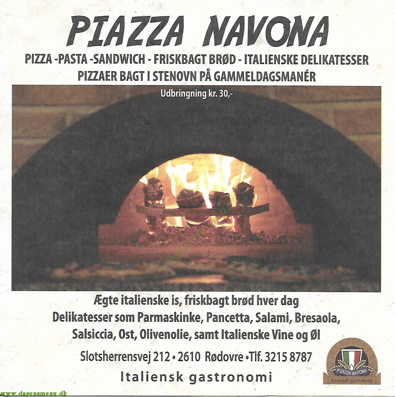 Piazza Navona - Menukort