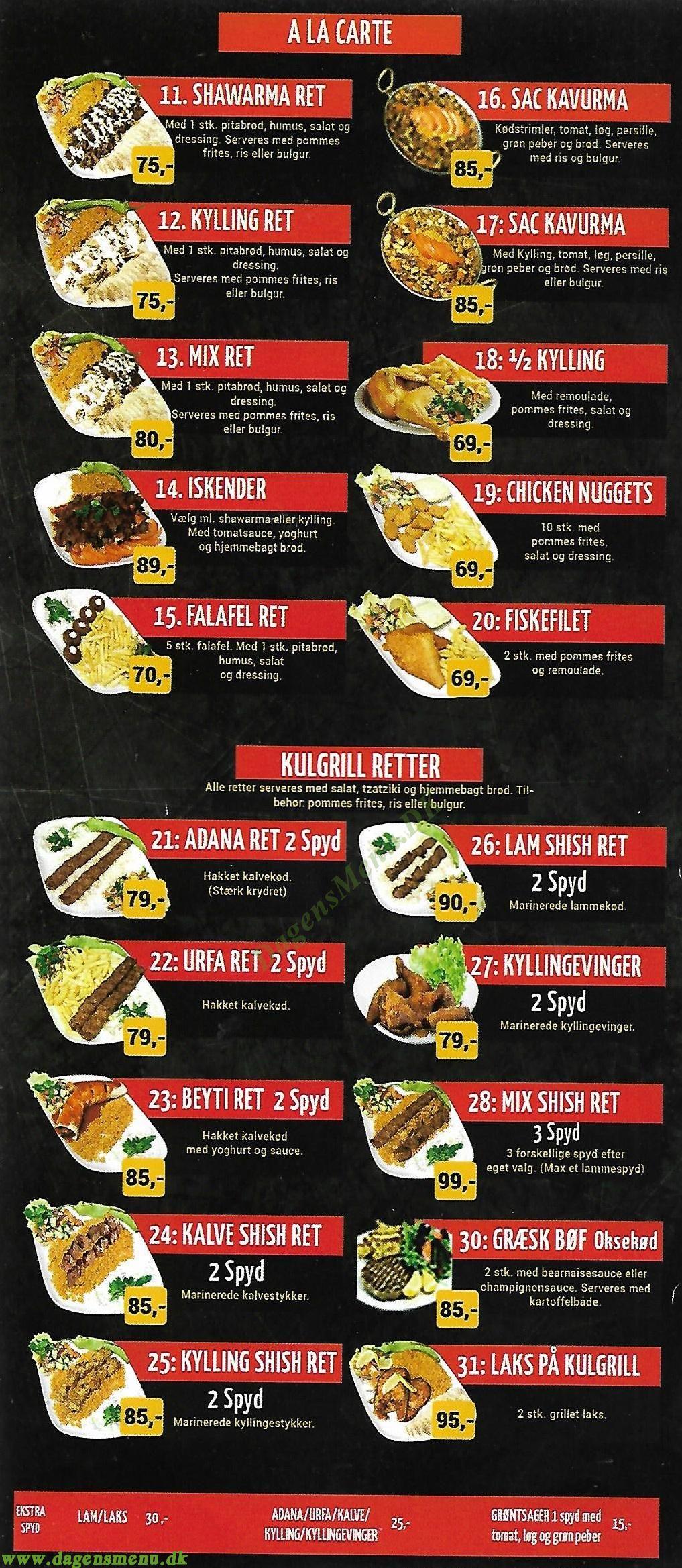 Istanbul Restaurant & Grill - Menukort