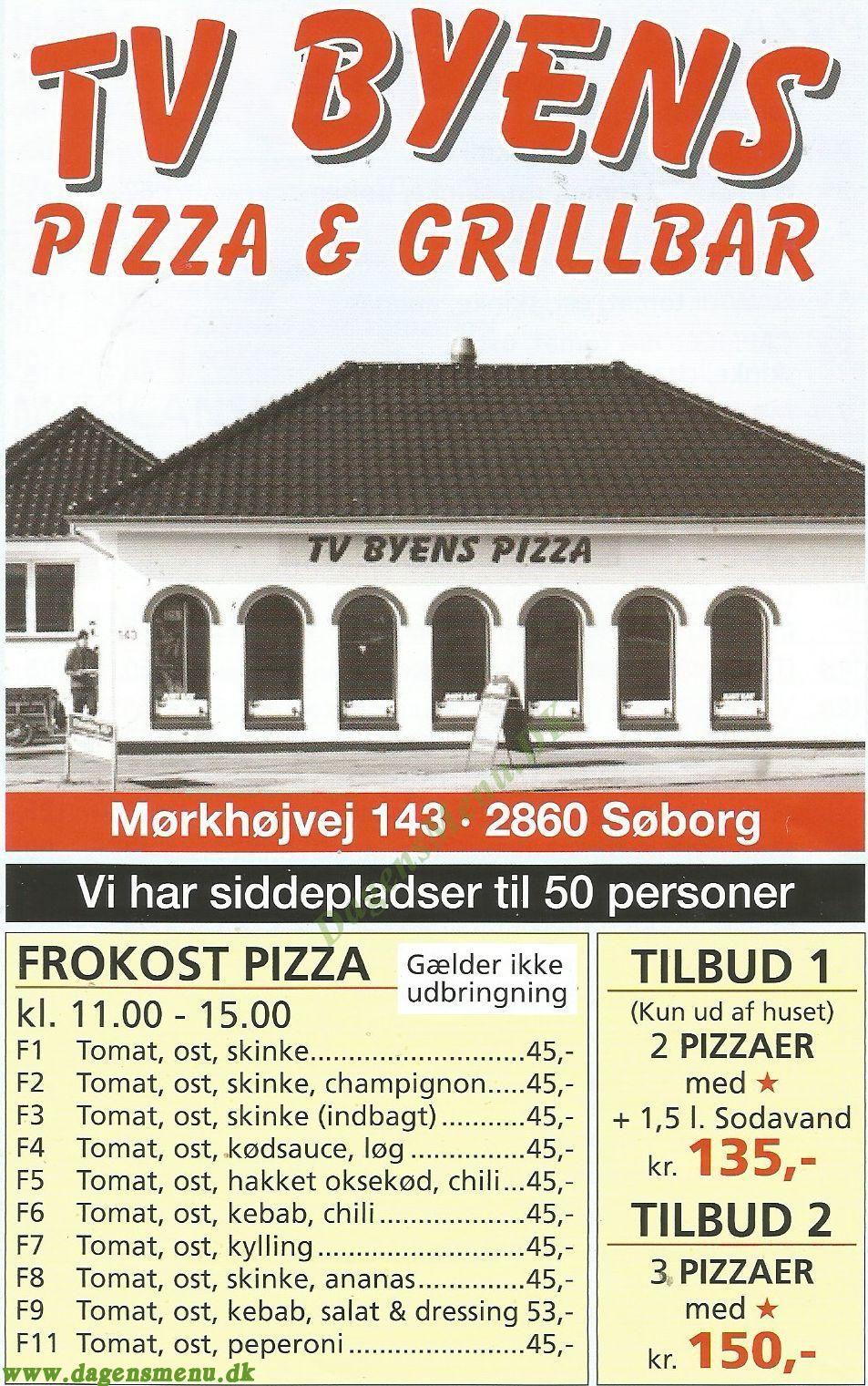 Tv Byens Pizza & Grillbar - Menukort