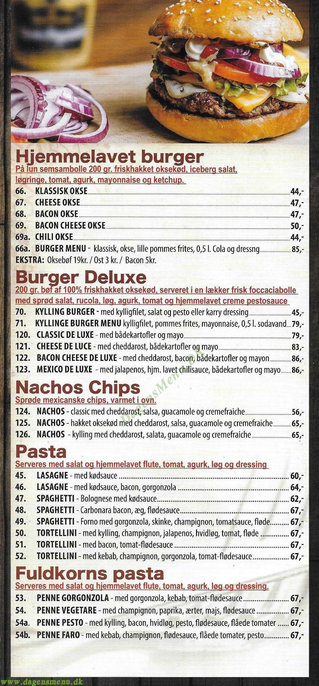 Dilan's pizza & burger house - Menukort