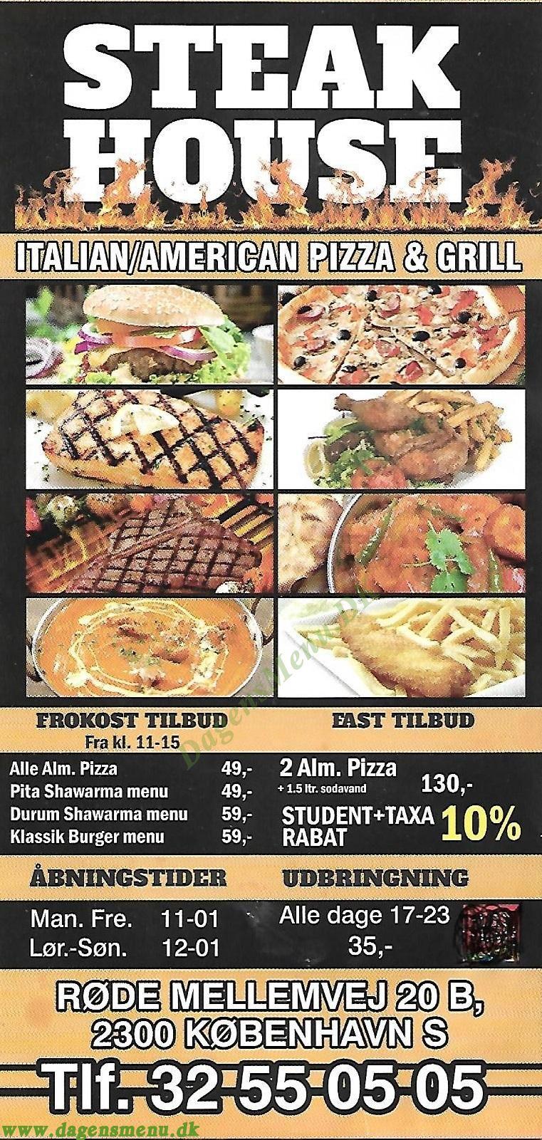 Steakhouse Røde Mellemvej - Menukort