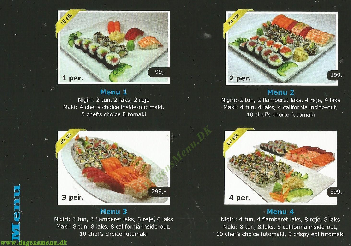 Yummy Sushi - Menukort
