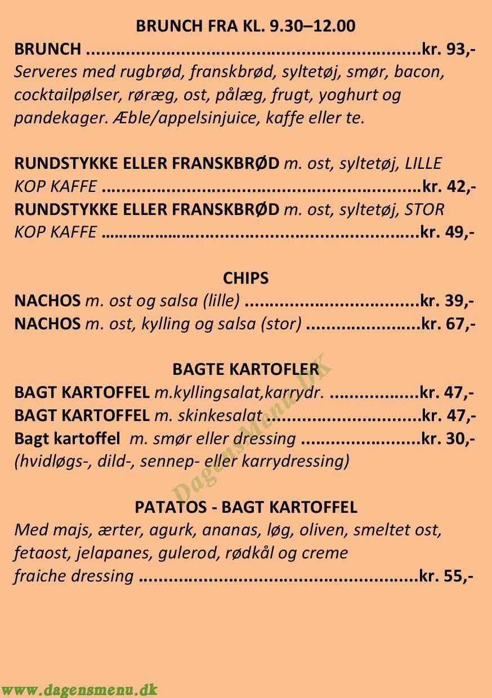 Cafe Oline - Menukort