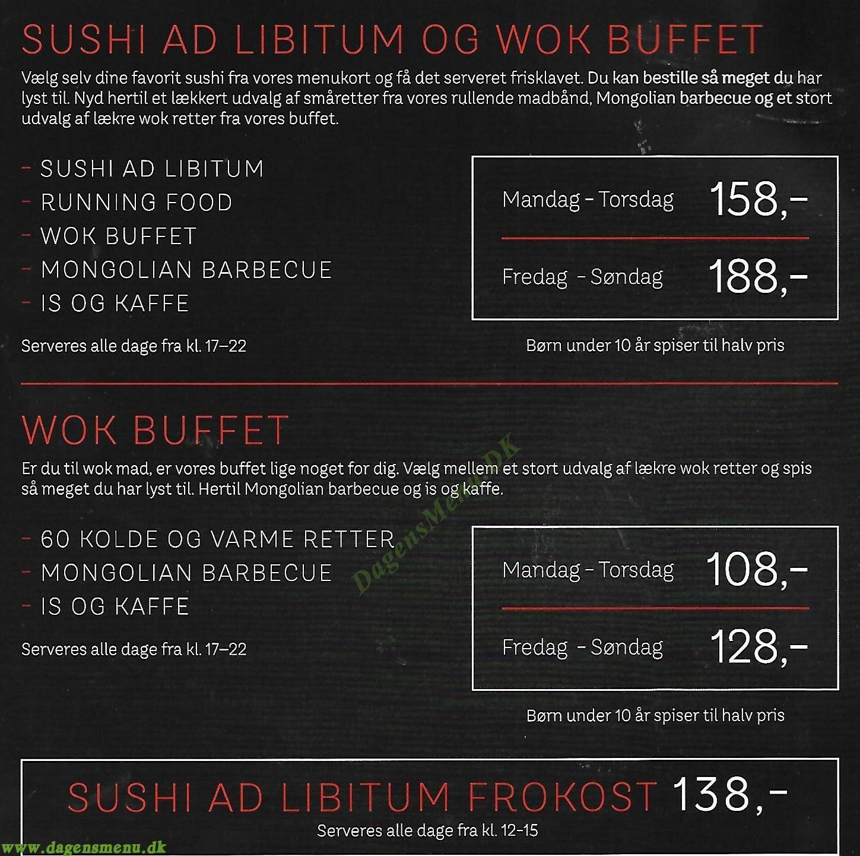 Restaurant Wok Sushi - Menukort