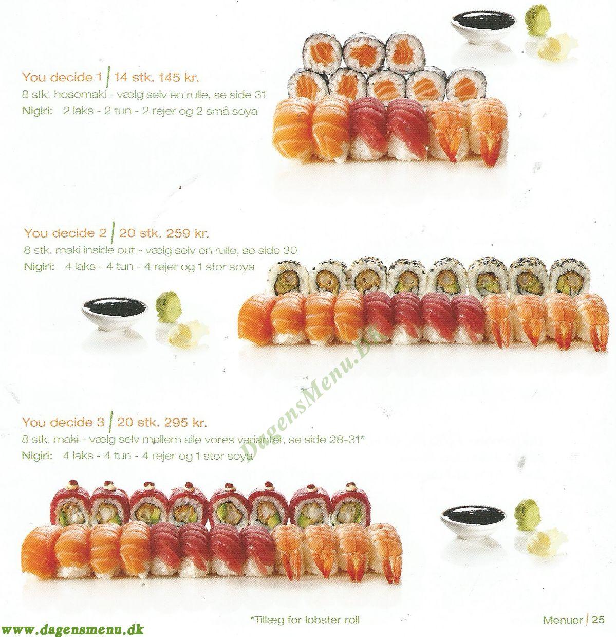 sushi varianter