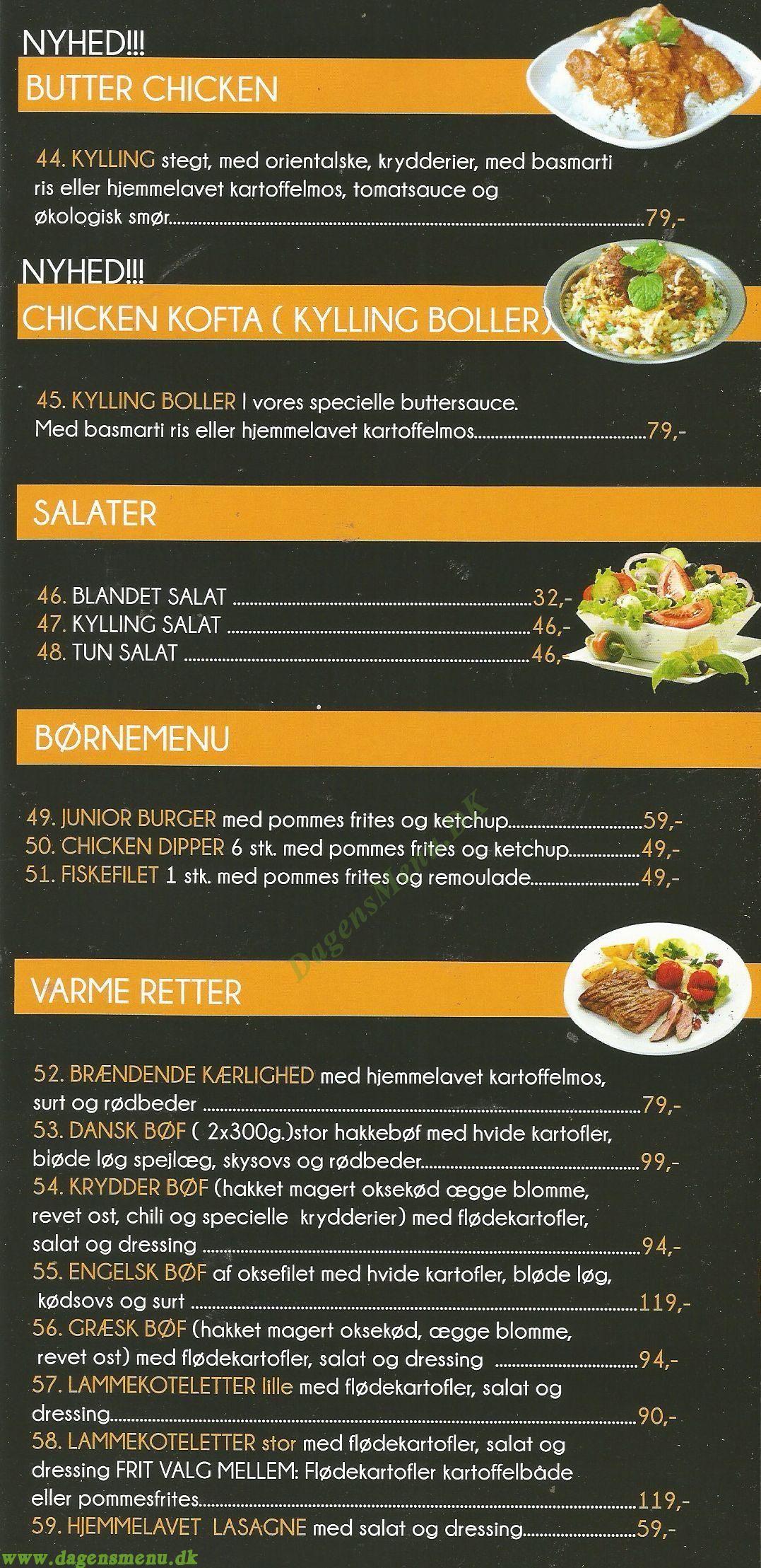 Vikinge Køkkenet - Menukort