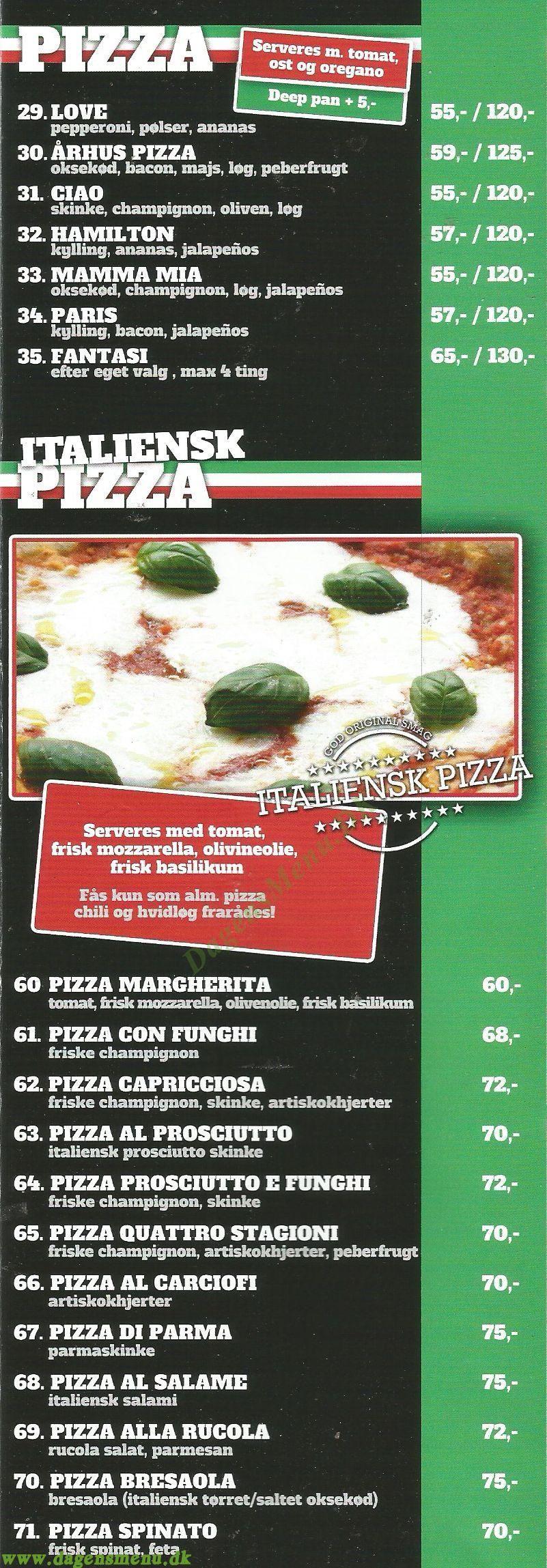Pizza & Grill - Menukort