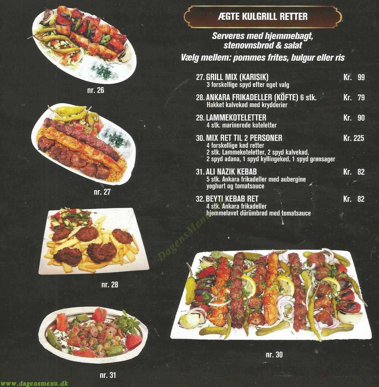 Safir Kebab - Menukort