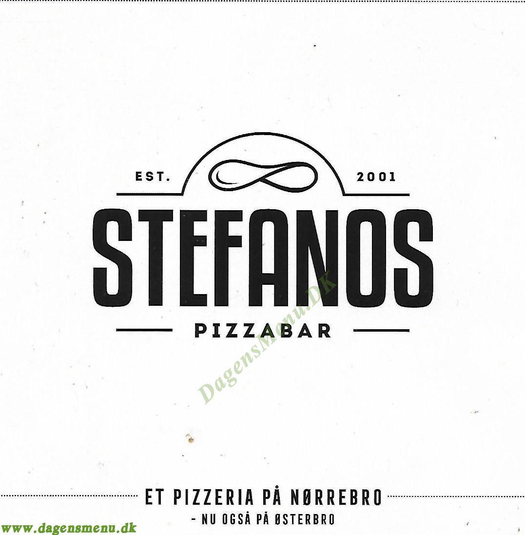 Stefanos Pizza Nørrebro - Menukort