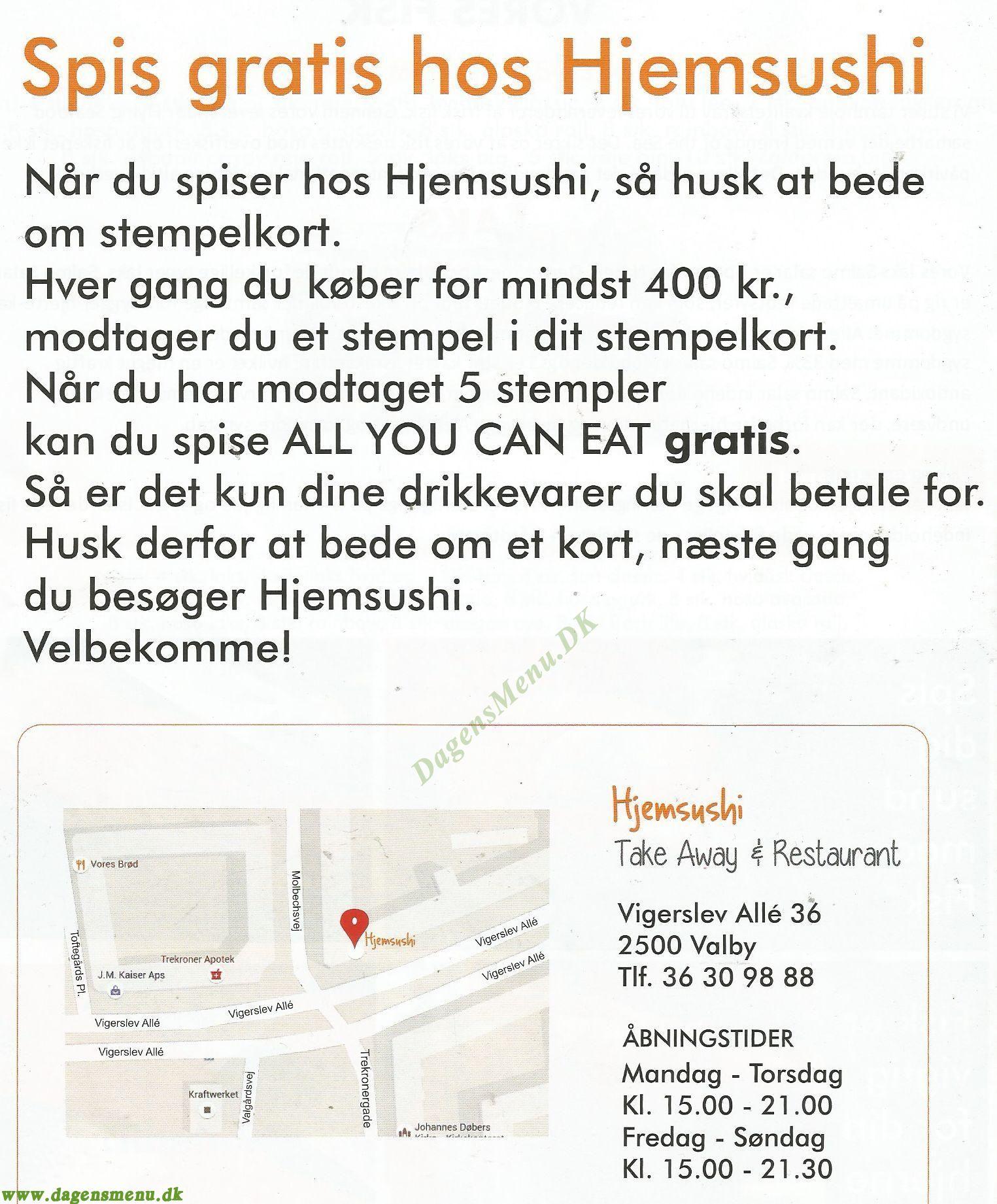 Hjemsushi - Menukort