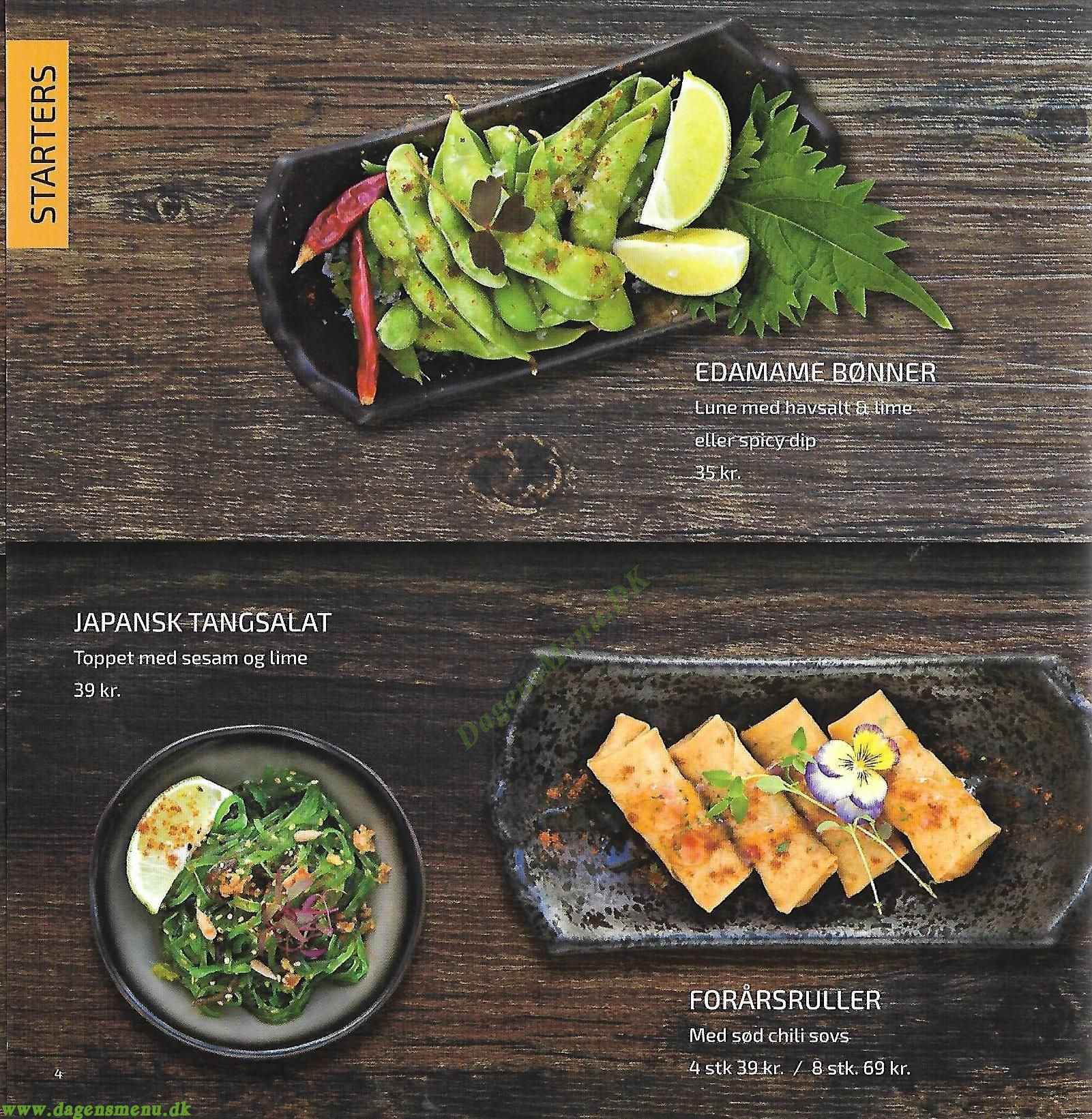 Umashi Sushi - Menukort