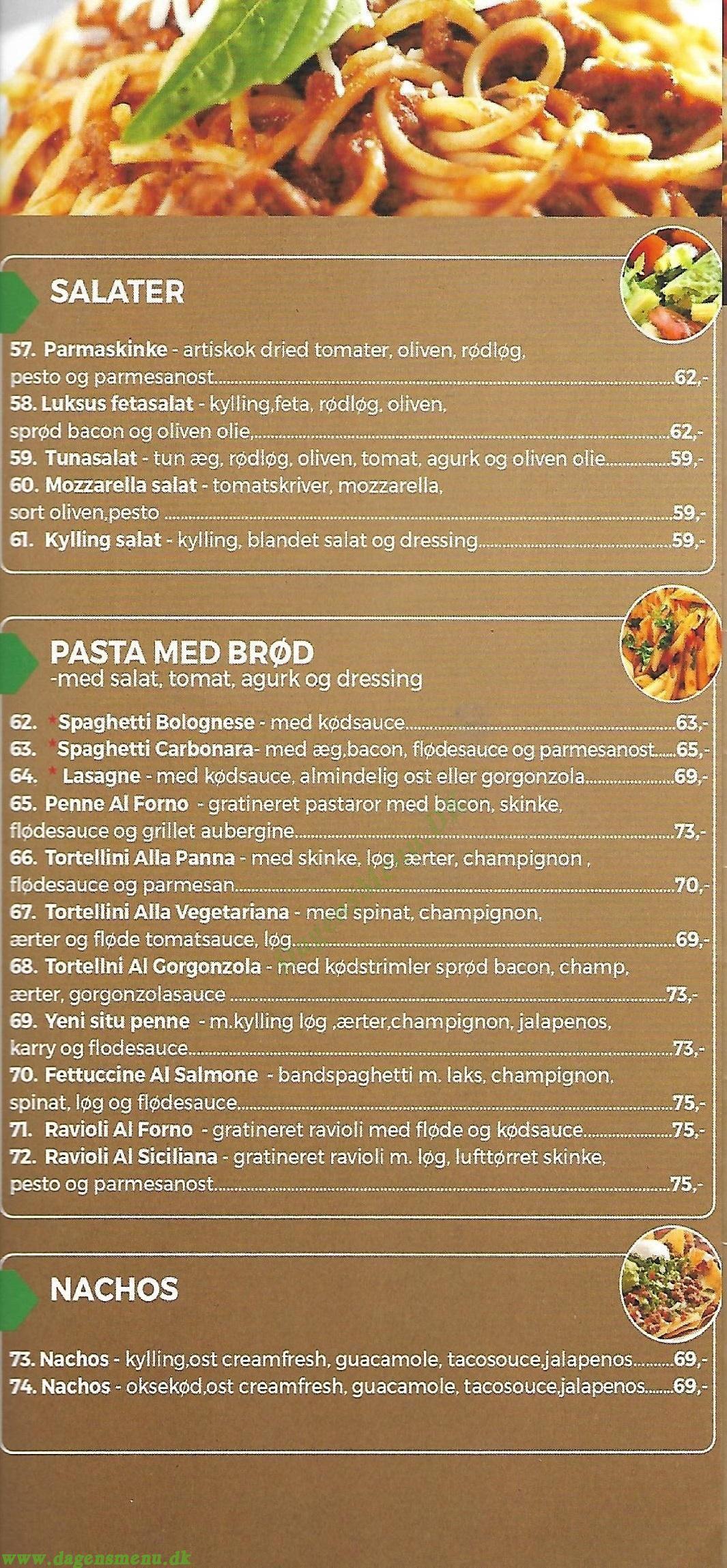 Baguette Company - Menukort