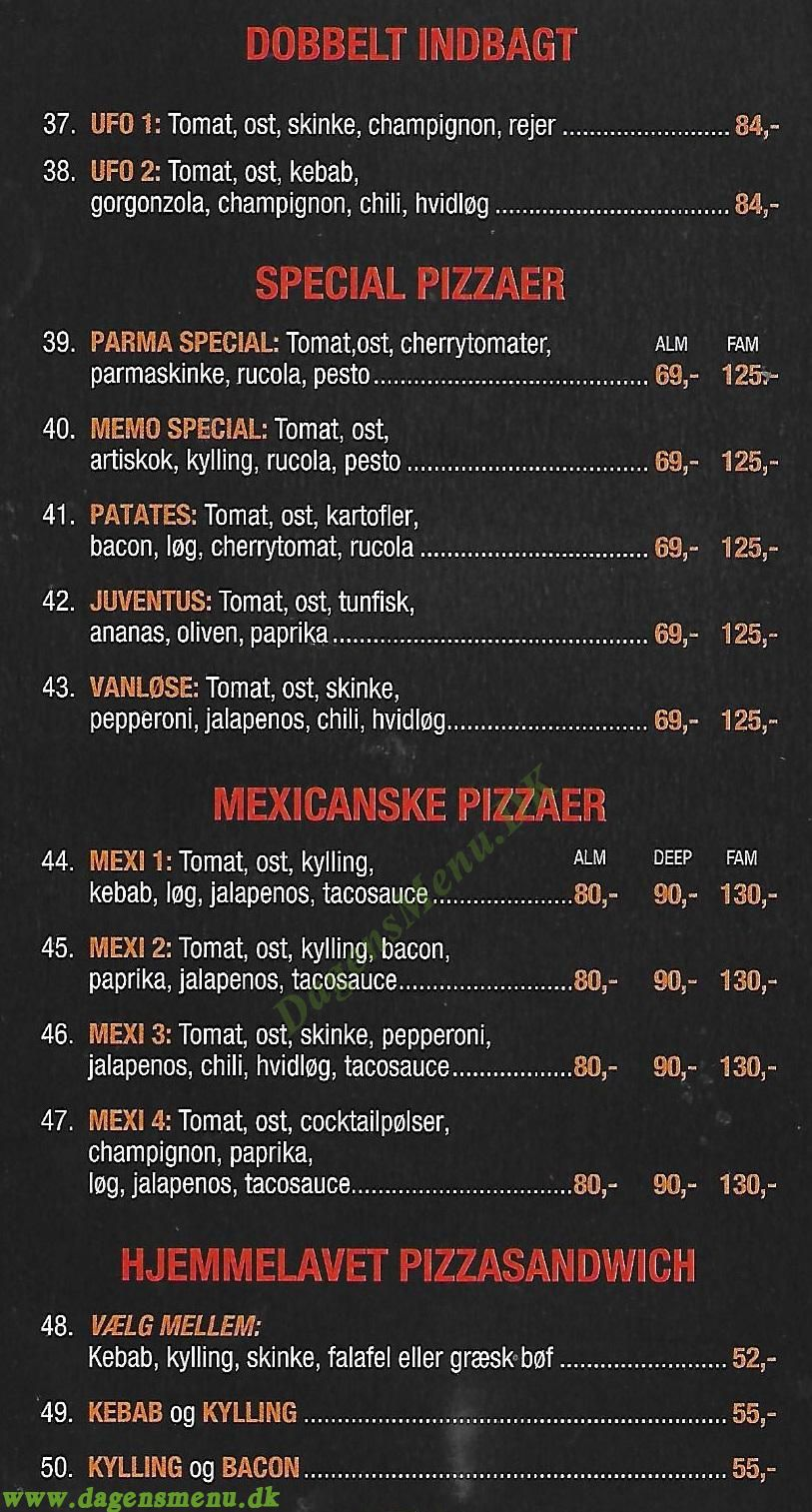 Viking Pizza - Menukort