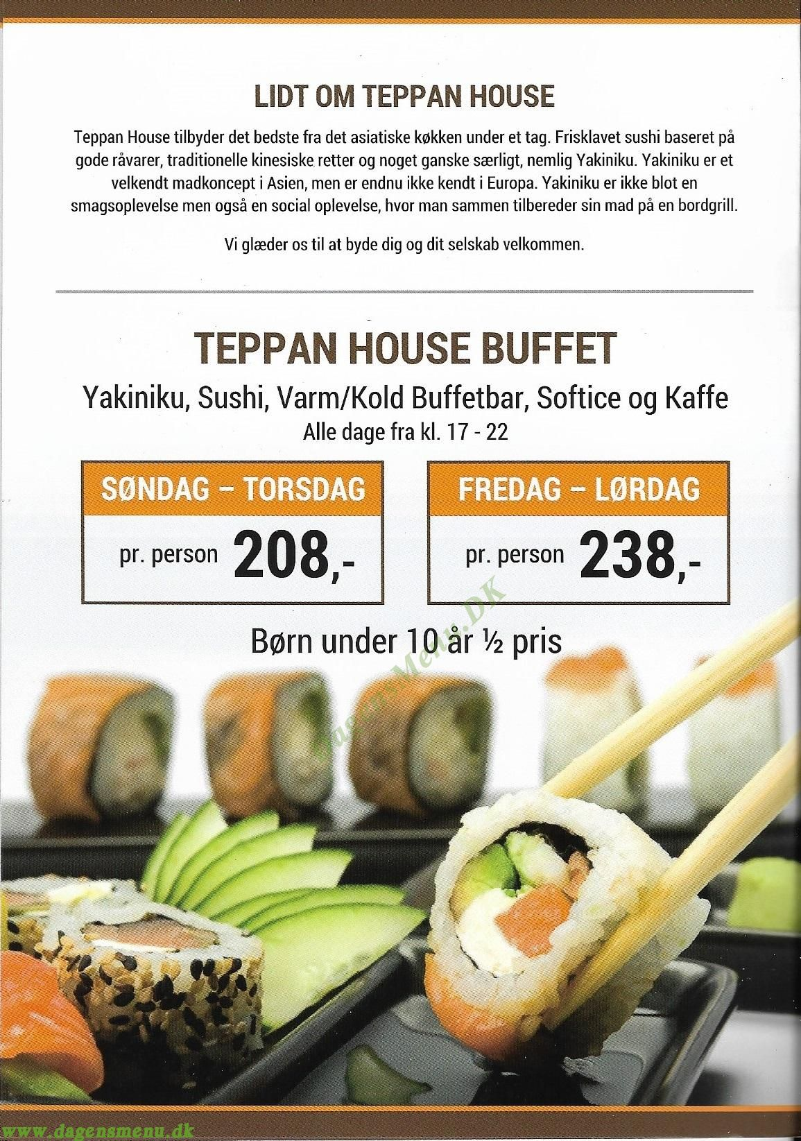 Restaurant Teppan House - Menukort