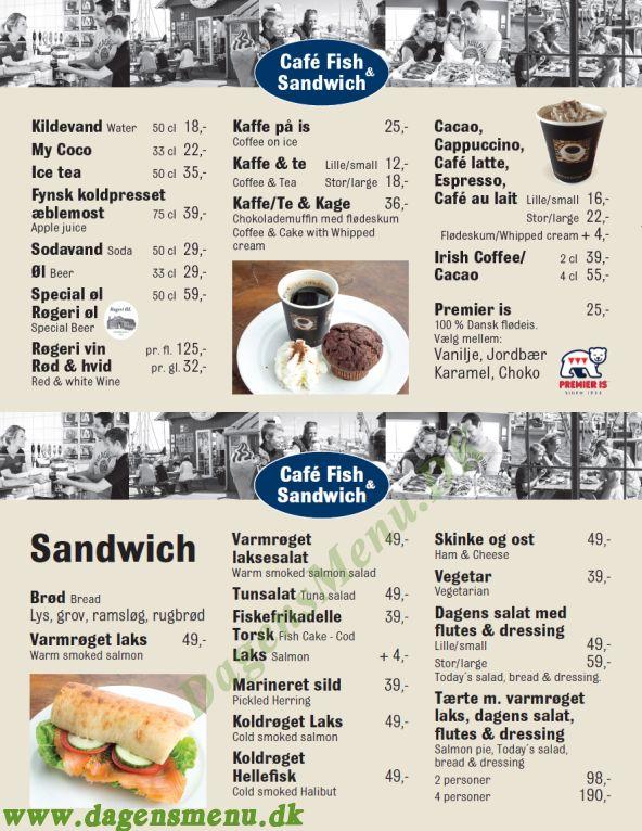 Faaborg Røgeri Café - Menukort