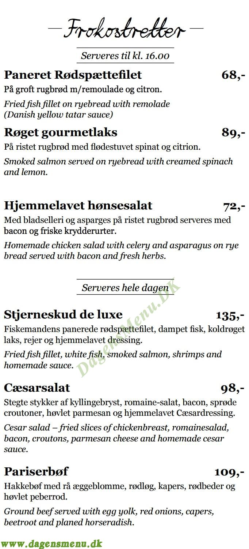 bella pizza bogense menukort