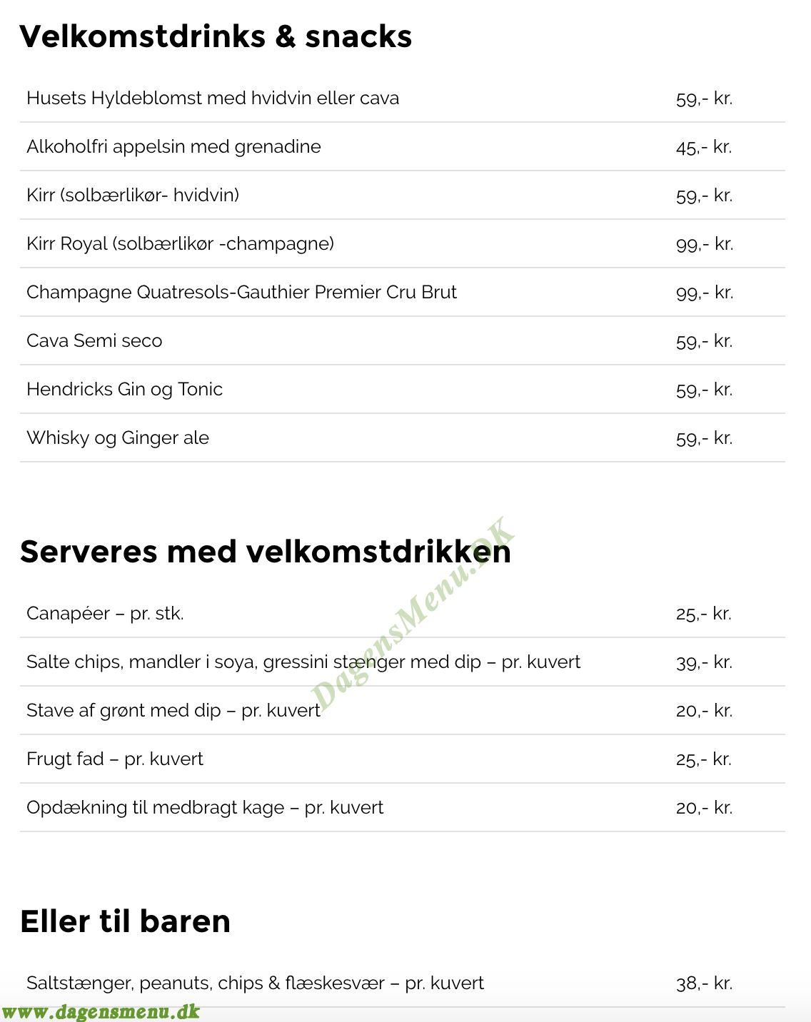 Restaurant Fænøsund Marina - Menukort