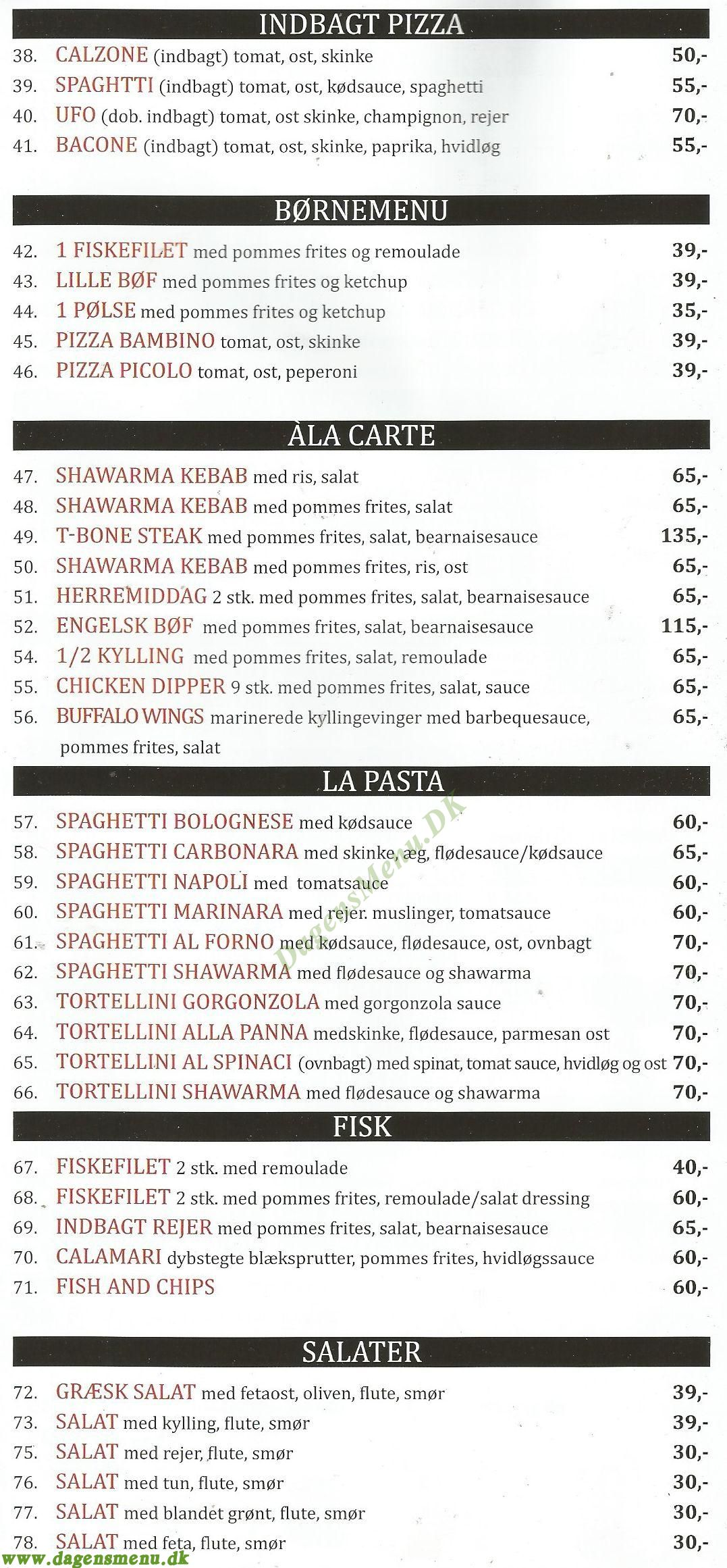 La Coruna Tandoori - Menukort