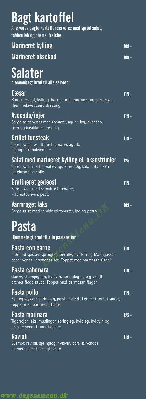 Café Phenix Frederiksberg - Menukort