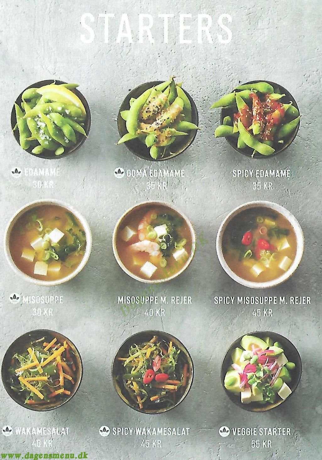 Letz Sushi Charlottenlund - Menukort