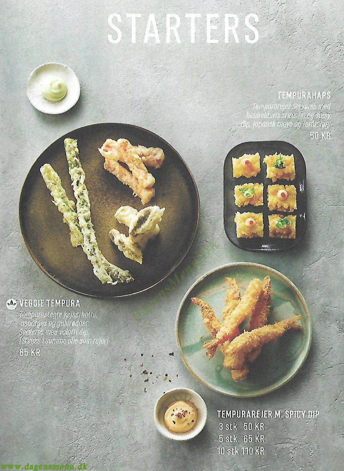 Letz Sushi Amager - Menukort