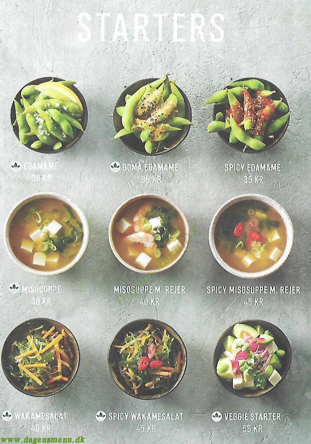 Letz Sushi Frederiksberg - Menukort