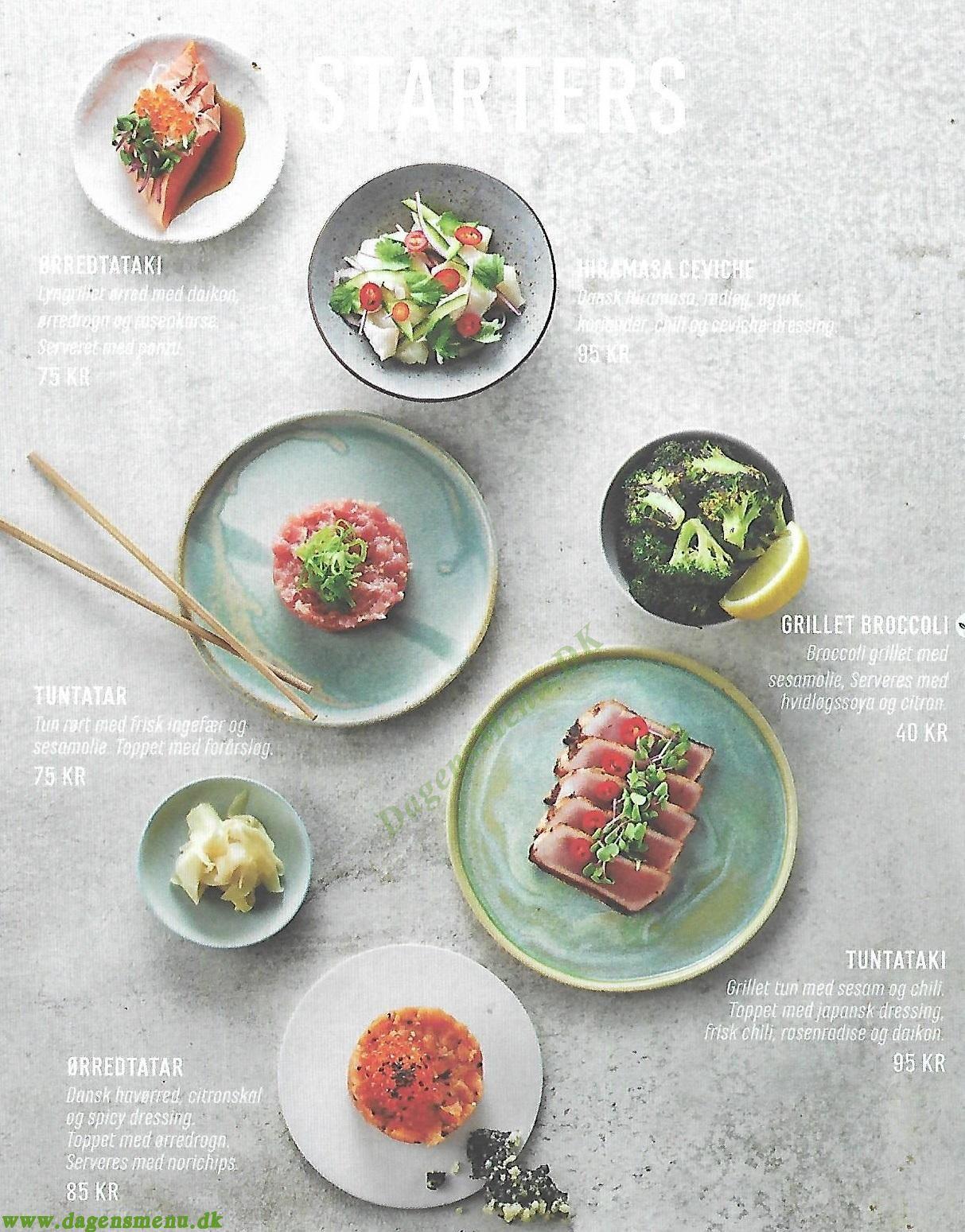 Letz Sushi Vesterbro - Menukort