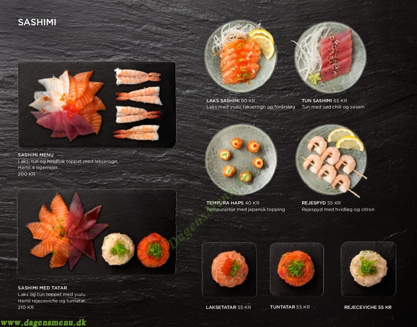 Letz Sushi Østerbro - Menukort