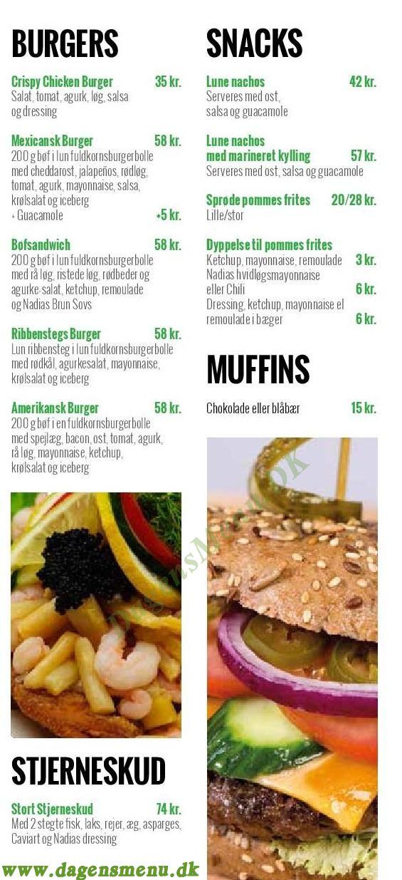 Café Nature - Menukort