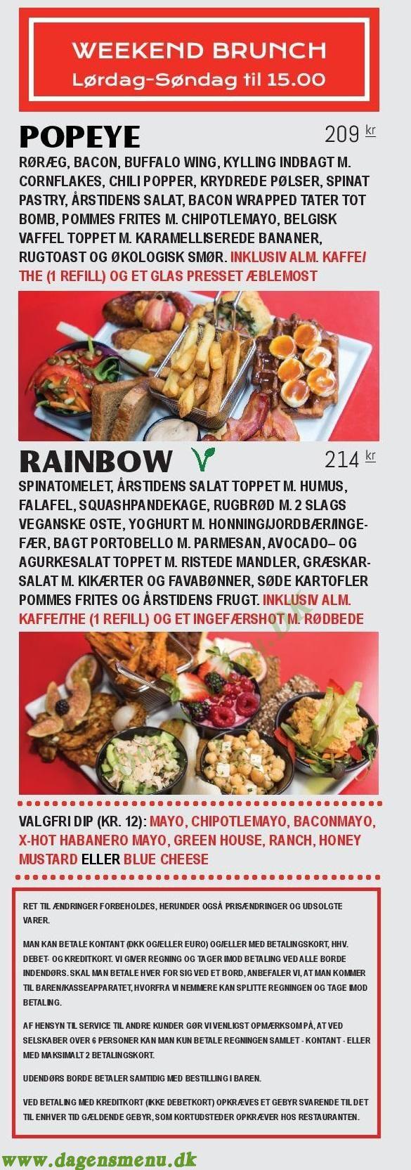 LUNA's Diner Christianshavn - Menukort