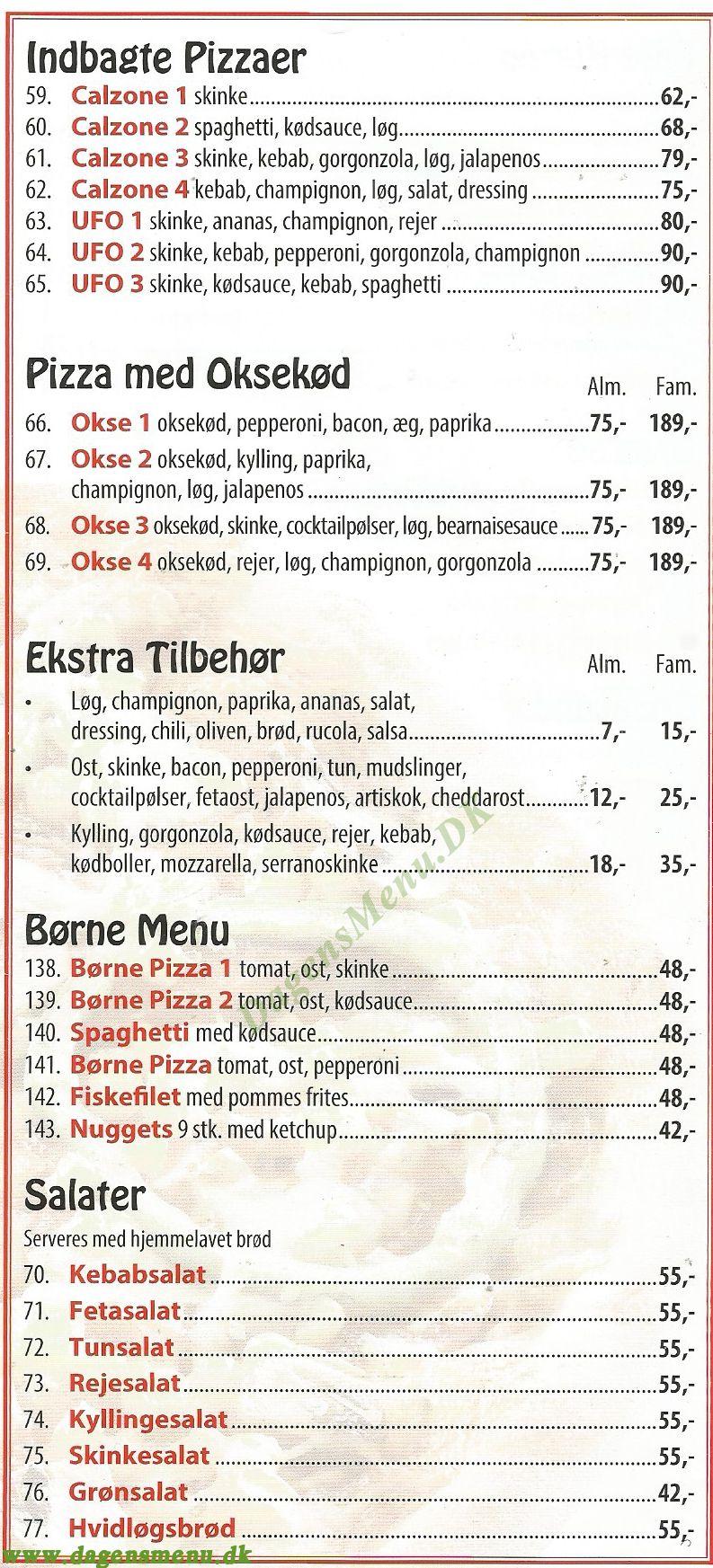 Kebab Huset - Menukort