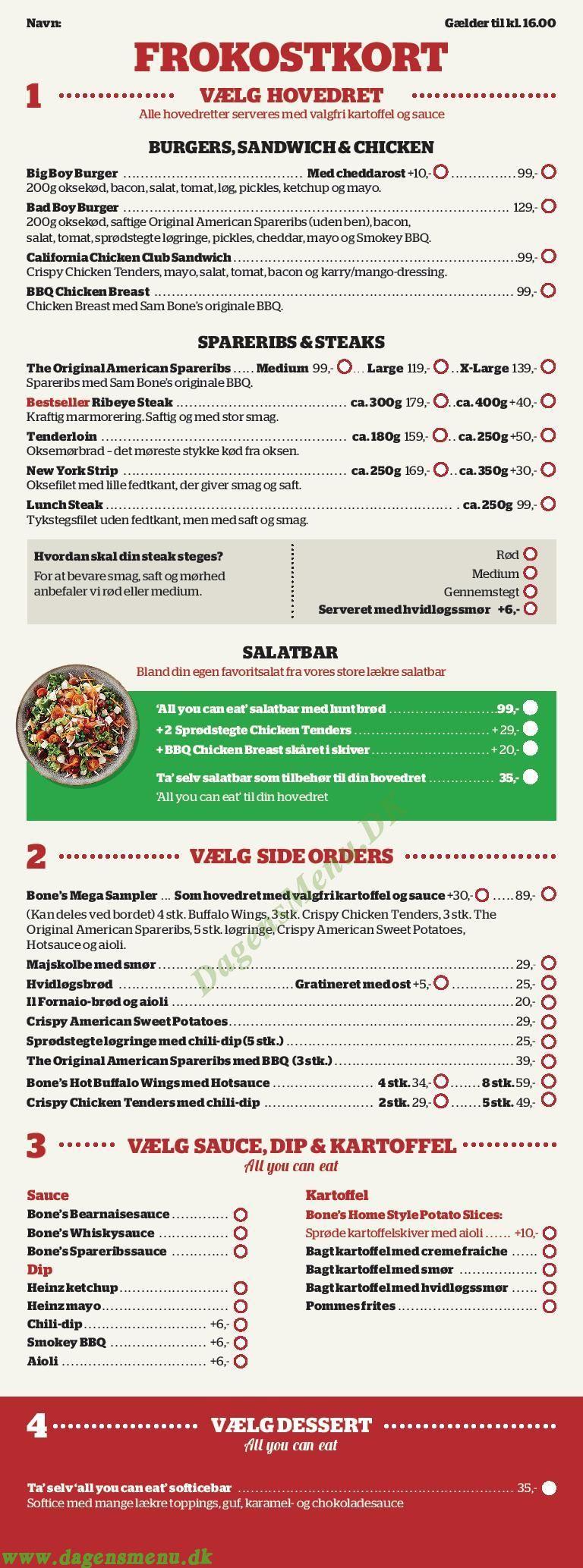 smørrebrød og grill hjørring menukort