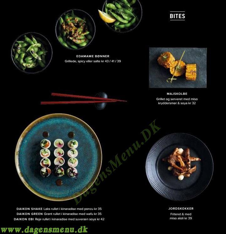 Sticks n Sushi Øster Farimagsgade - Menukort