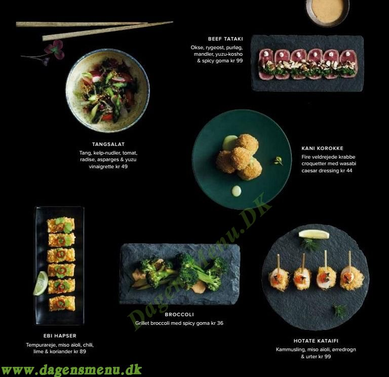 Sticks n Sushi Valby - Menukort